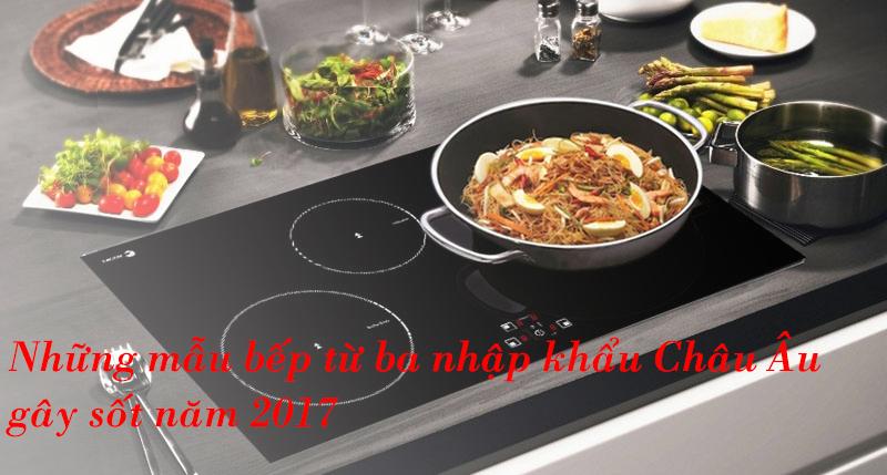 3 Mẫu Bếp Từ Ba Nhập Khẩu Châu Âu Gây Sốt Năm 2017