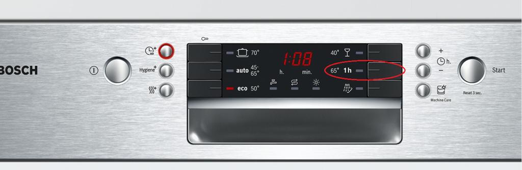 1Hour 65°C (chương trình rửa nhanh)