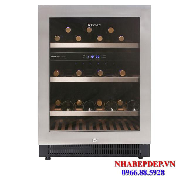 Tủ trữ rượu vang Vintec V190SG2EBK 170 chai
