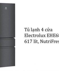 Tủ lạnh Electrolux EHE6879AB 4 cửa 617L NutriFresh Inverter